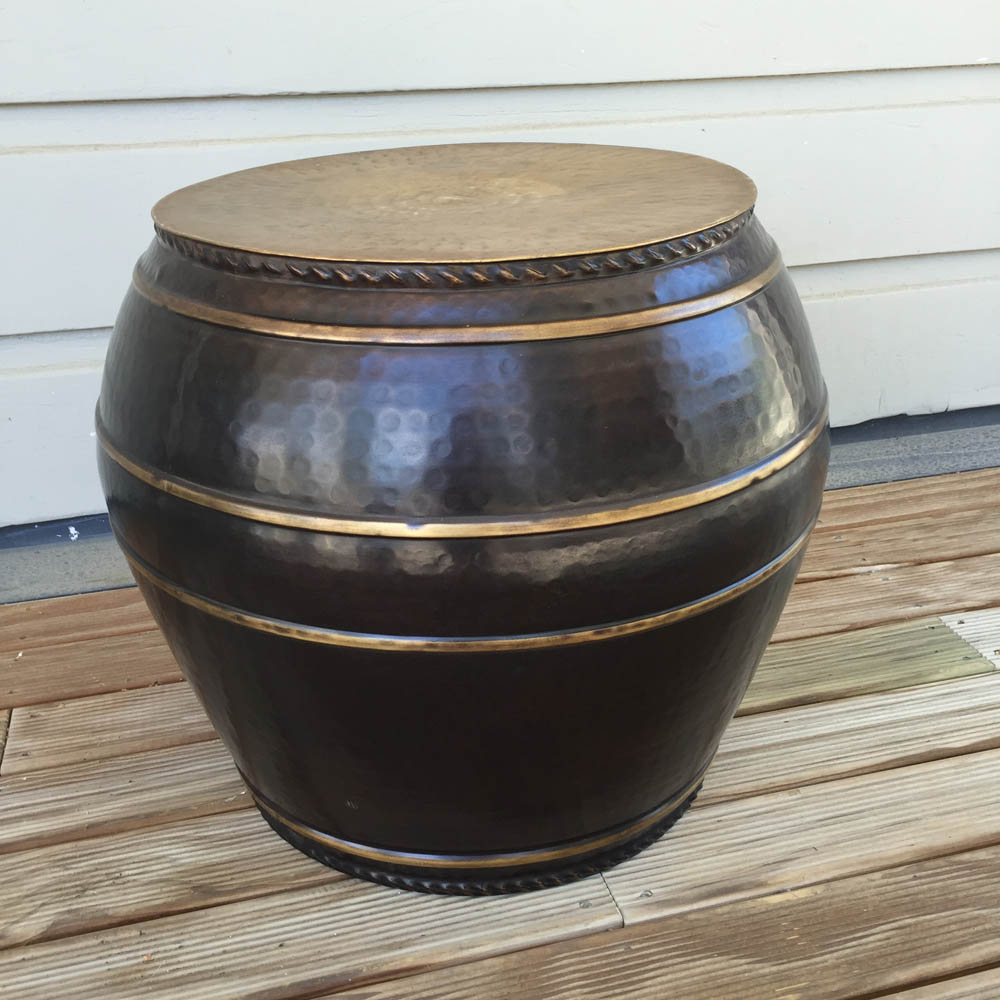 Affini Brass Stool/Table or Urn Large