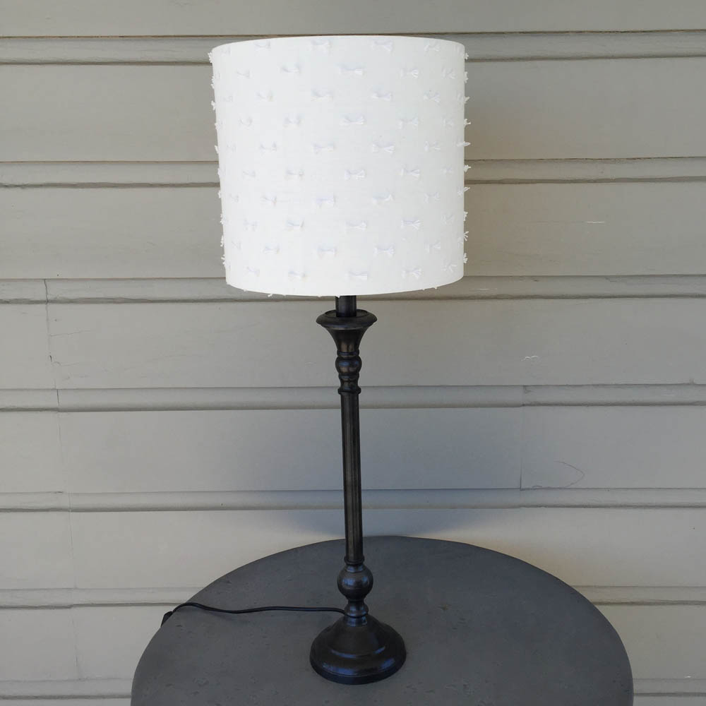 Gunmetal Lamp Base and Shade