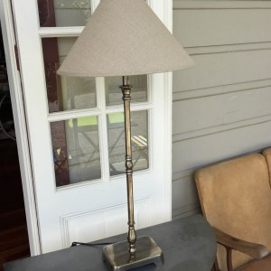 Tall Rectangular Lamp Base and Shade