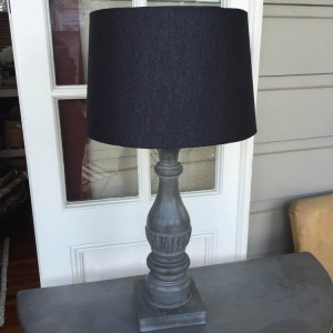 Wooden Lamp Base and Shade