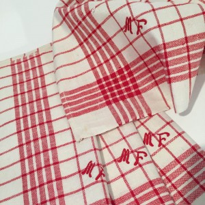 French Vintage Monogrammed Napkins 'MF'