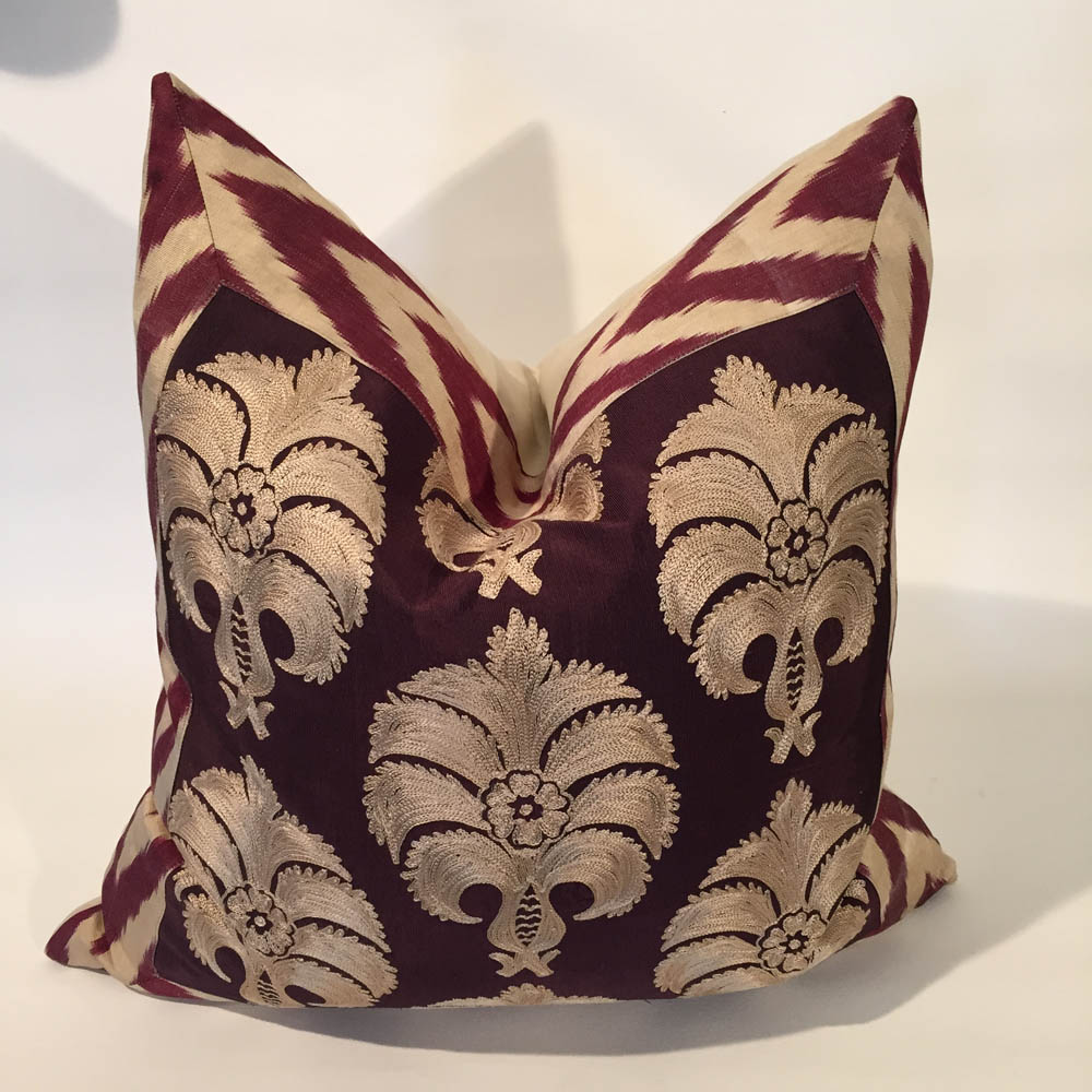 Turkish Silk Embroidered Cushion 'Gures'
