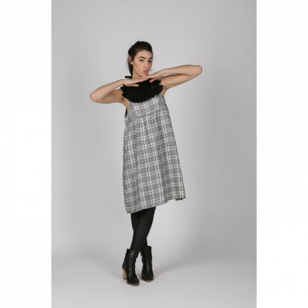 Dolly Dress Onyx Check index